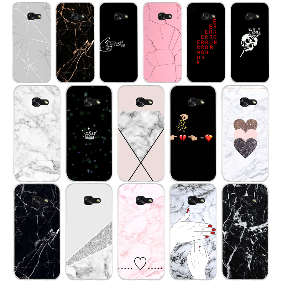 042FG Black White Marble Love Heart Soft Silicone Tpu Cover phone Case for Samsung a3 2016 a5 2017 a6 plus a7 a8 <font><b>2018</b></font> s6 7 <font><b>8</b></font> 9 image