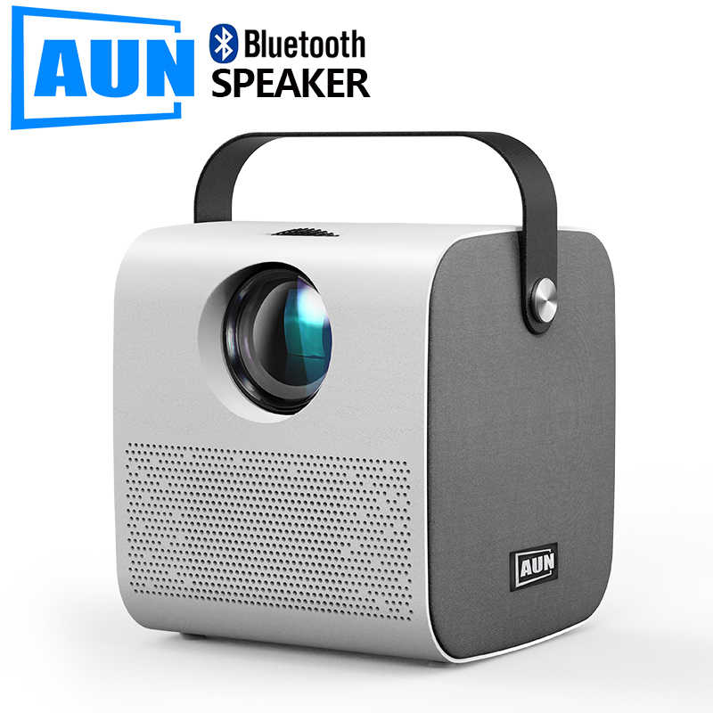 AUN MINI AKEY7 genç projektör, yerli 1280*720P 2800 lümen, LED projektör Full HD 1080P, 3D Video Beamer ev sinema.