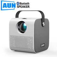 Aun mini akey7 jovem projetor, nativo 1280*720p 2800 lumens, proyector led para hd completo 1080p, 3d vídeo beamer cinema em casa.