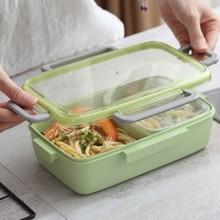 купить Four buckle leakproof lunch box microwave leakproof lunch box lunch box independent small bowl portable food box недорого