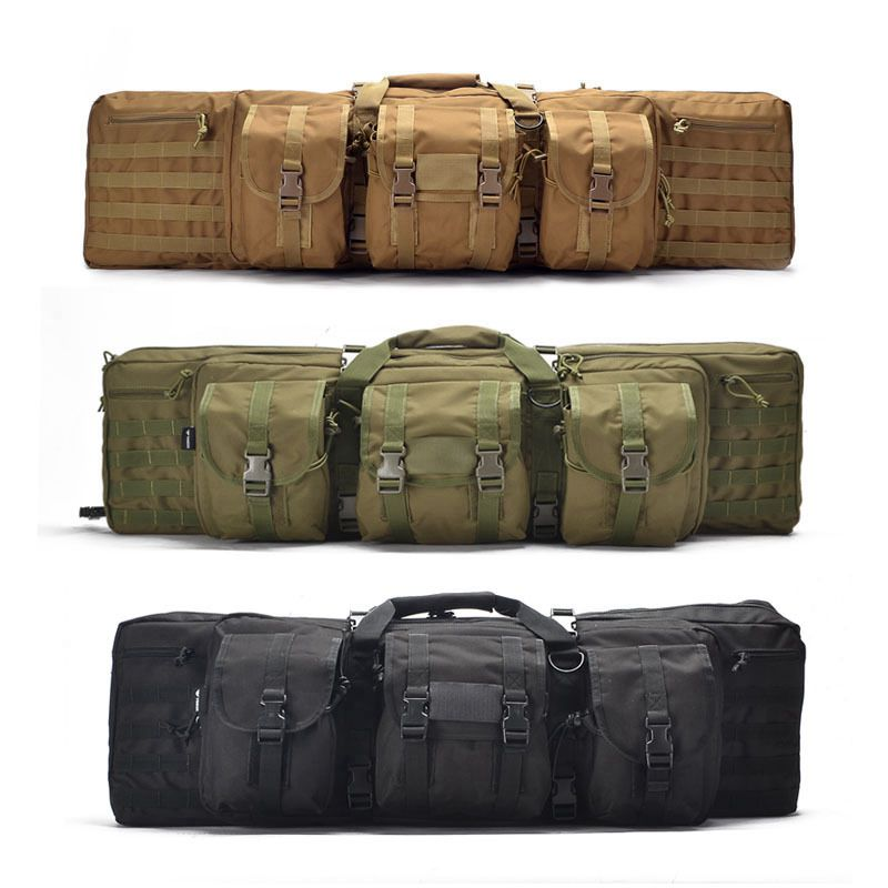 Tactical 93 / 118cm Heavy Bag Rifle Airsoft Pistol Hand Carry Bag Outdoor Shooting Hunting Bag With Molle Pouch Rifle Case