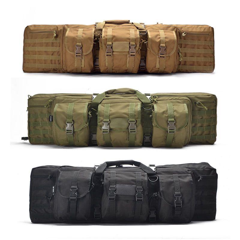 Tactique 93/118 cm sac lourd fusil Airsoft pistolet à main sac de transport en plein air tir sac de chasse avec mallette à fusil Molle