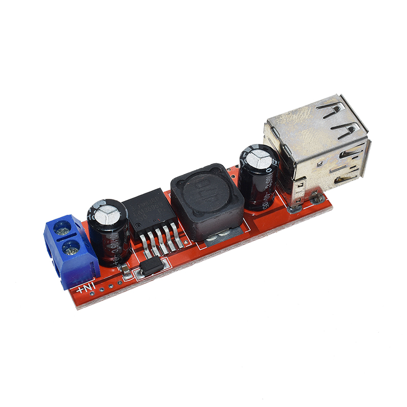 DC 6V-40V To 5V 3A Double USB Charge DC-DC Step Down Converter Module For Vehicle Car Charger LM2596 Dual Two USB