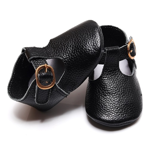 New T-bar Mary Jane Design Baby Girls Shoes Cow Leather Infants Toddler Baby Princess Ballet Shoes Soft Sole Newborn Crib Shoes