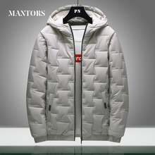 Winter Warm Men Jacket Coat Casual New Stand Collar Puffer Thick Hat Parka Coats Male Hooded Down Jacket Waterproof Solid Color