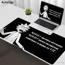 Anime Morty Large Size Gaming Mouse Pad Natural Rubber PC Computer Gamer Mousepad Desk Mat Locking Edge for CS GO LOL Dota XXL