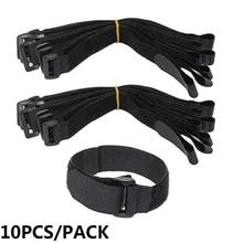Fastening Hook Strap-Cable-Ties Bike Tie Nylon Reusable 10-Pc Loop Multil-Purpose Self-Adhesive