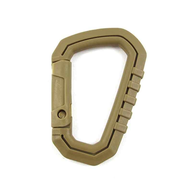 Tactical de alta resistência d-ring acampamento snap clip gancho fivela chaveiro acampamento caminhadas escalada montanhismo mosquetão