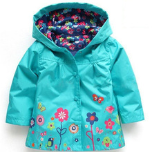 Children's Trench Baby Girls Windbreaker 2019 Autumn Hooded Jacket For Girls Cut