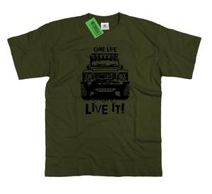 2018 Hot Sale British Classic car fans Defender 90 110 One Life Live It Off Road Mens T Shirt Tee shirt