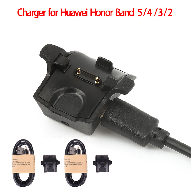 Smart Watch Charger for Huawei Honor Band 5 4 3 2 Charger USB Charging Cable Cradle Dock Charger for Hornor Wristband 2/3/4 Pro