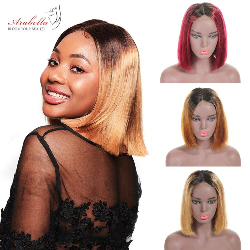Ombre Short Bob Wigs  Straight  Wigs 180% Density Arabella Virgin Hair 4*4 Lace Wig Ombre Bob Wig 1