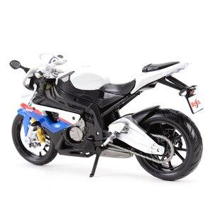 Image 2 - Maisto vehículos a presión fundido a presión 1:12, BMW S 1000 RR, juguetes modelo de motocicleta, pasatiempos coleccionables