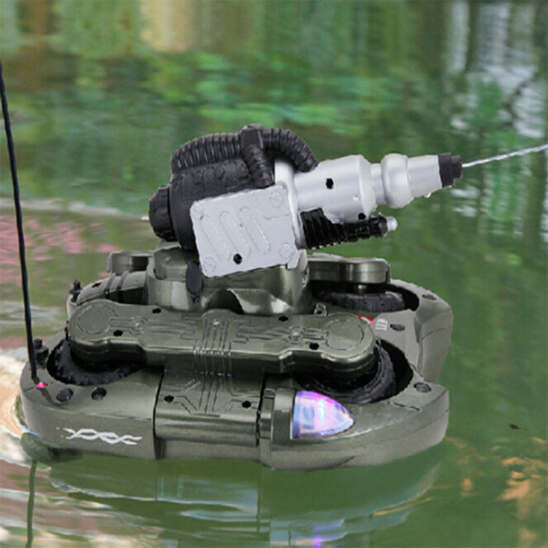 Children 39 s toys DIY amphibious remote control tank boat charging sprinkler water remote control car toy gifts in RC Cars from Toys amp Hobbies