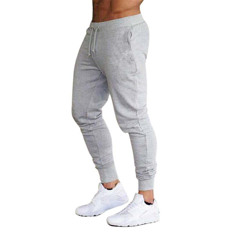 Hot Sale Solid Casual Mens Casual Slim Fit Tracksuit Sports Solid Male Gym Cotton Skinny Joggers Sweat Casual Pants Trousers L3