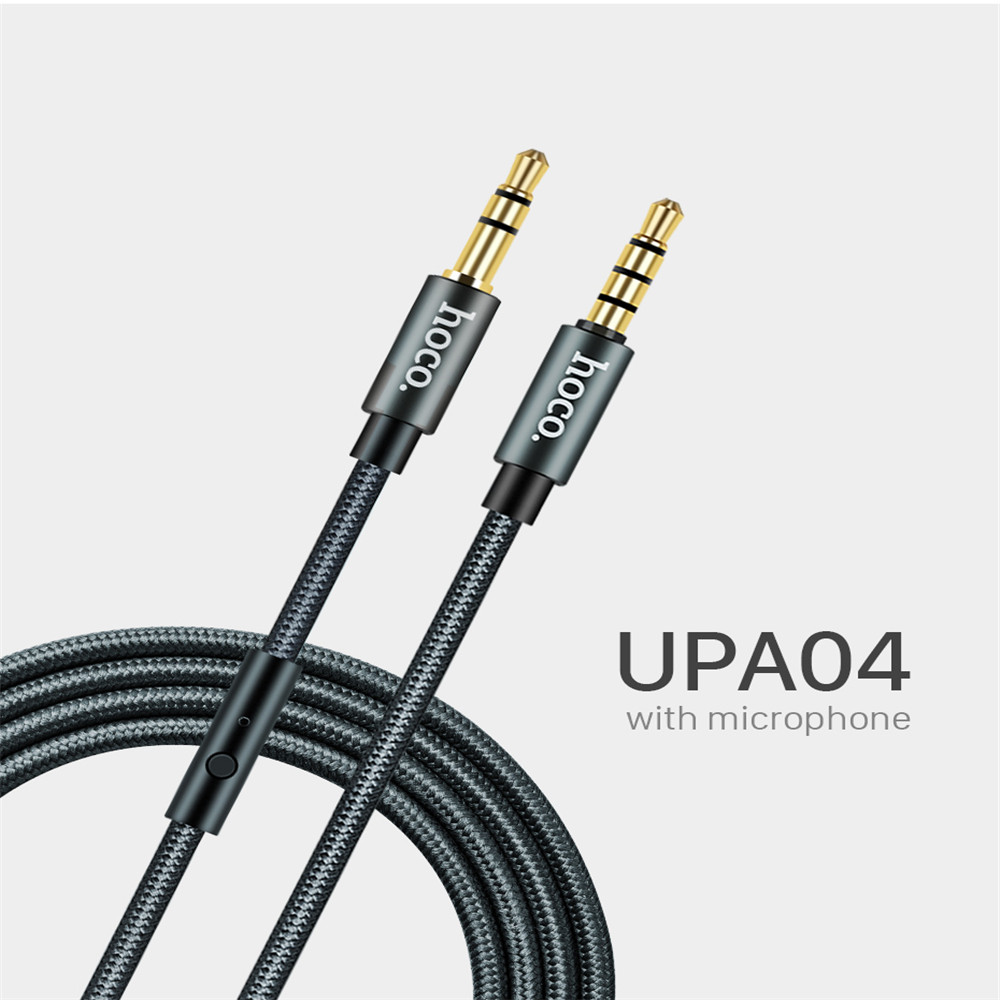 3.5mm Jack Audio Cable Gold Plated Jack 3.5 Mm Male To Male Aux Cable With Microphone MIC For IPhone Car Headphone Speaker image