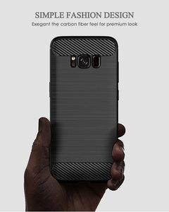 Image 2 - Funda de silicona para teléfono Samsung Galaxy S8 Plus, funda de fibra de carbono suave, parachoques galays8 S 8 S8Plus 8 Plus SM G950F G955F SM G950