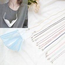 Collar de cadena con cordón para mujer, nueva Máscara, gafas antipérdida, accesorios para el cuello, collar, regalo de correa, 1 ud.