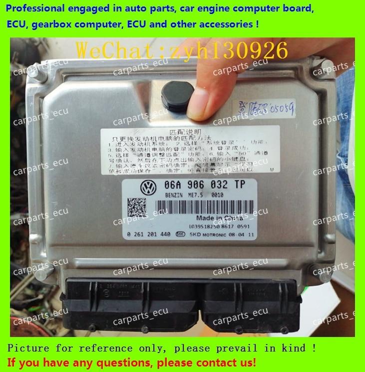 For Car Engine Computer Board/VW  ECU/Electronic Control Unit/06A906032TE 0261208707/06A906032TP 0261201440/06A 906 032 TP