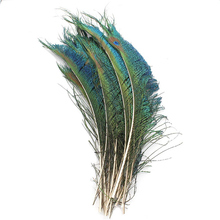50Pcs/Lot Real Natural Peacock Sword Feathers For Crafts 30-35cm/12-14 for Jewelry Making Wedding Decoration