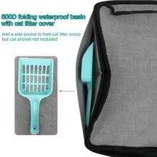 Pet-Accessories Toilet Cat-Litter-Box Folding Easy-Clean Portable Home Bathroom