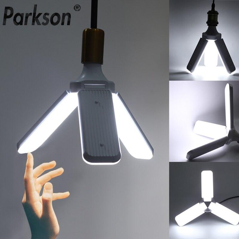 LED Lamp 30W 45W 60W E27 LED Bulb AC 220V Foldable Fan Blade Bulb Angle Adjustable For Indoor Home Pendant Light Lampada