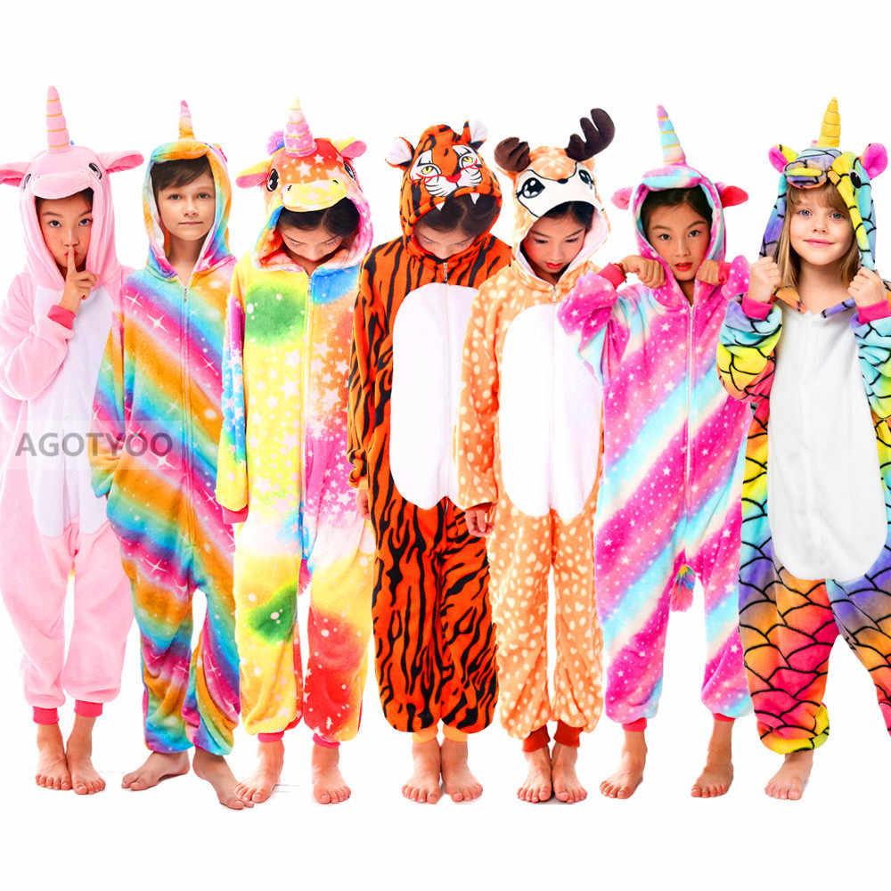 ילדים Unicorn Onesies פיג 'מה ילדי תינוק בנות של פיג' מה בני הלבשת בעלי החיים תפר צבי Licorne סרבל תינוקות ילדים תלבושות סרבל