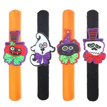 Halloween Decorations Pops Ring Cloth Pat Circle Pat Bracelet Pumpkin Spider Skull Ghost Pat Circle Bracelet(China)