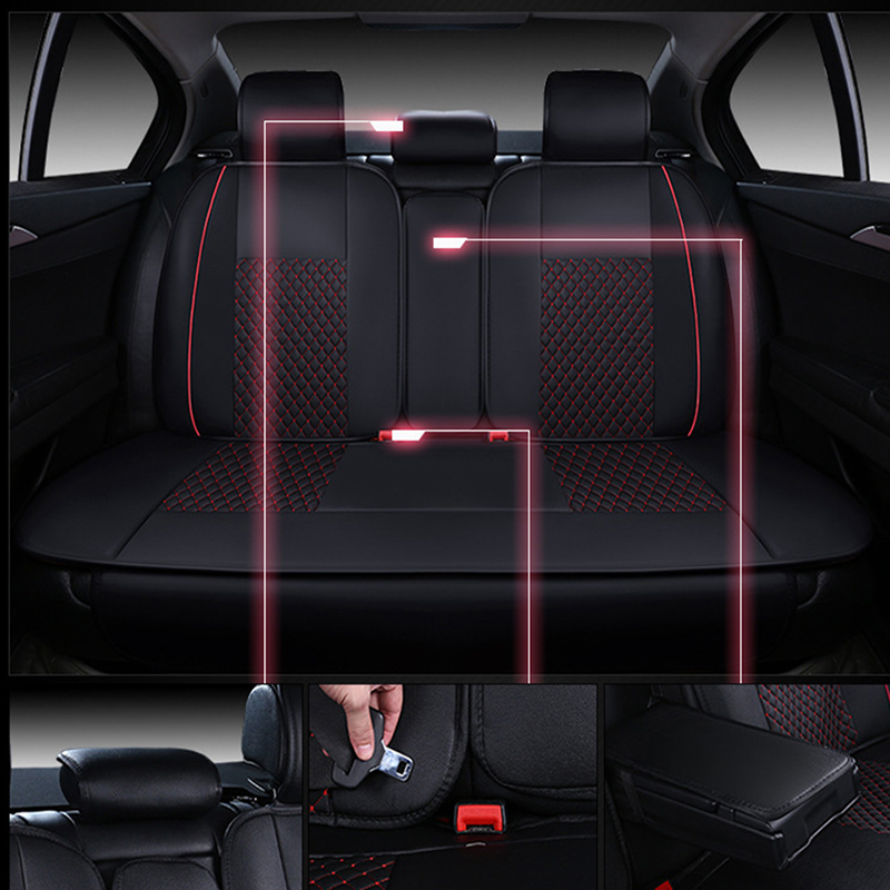WLMWL Universal Leather Car seat cover for Peugeot 206 307 407 207 2008 3008 508 208 308 406 301 all models car accessorie - 4