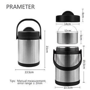 Image 5 - Pinkah Fiambrera de 2L de gran capacidad, de acero inoxidable 304, para adultos, para negocios, Bento Box, contenedor de comida para niños, portátil, Escuela de pícnic