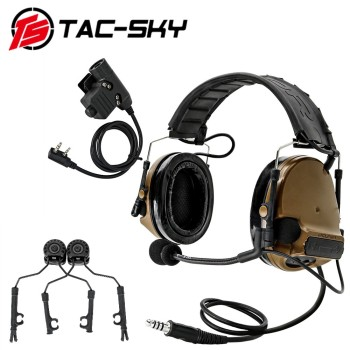 TAC-SKY new detachable headband COMTAC III noise-cancelling pickup tactical headphones + U94 PTT helmet track adapter - discount item  5% OFF Workplace Safety Supplies