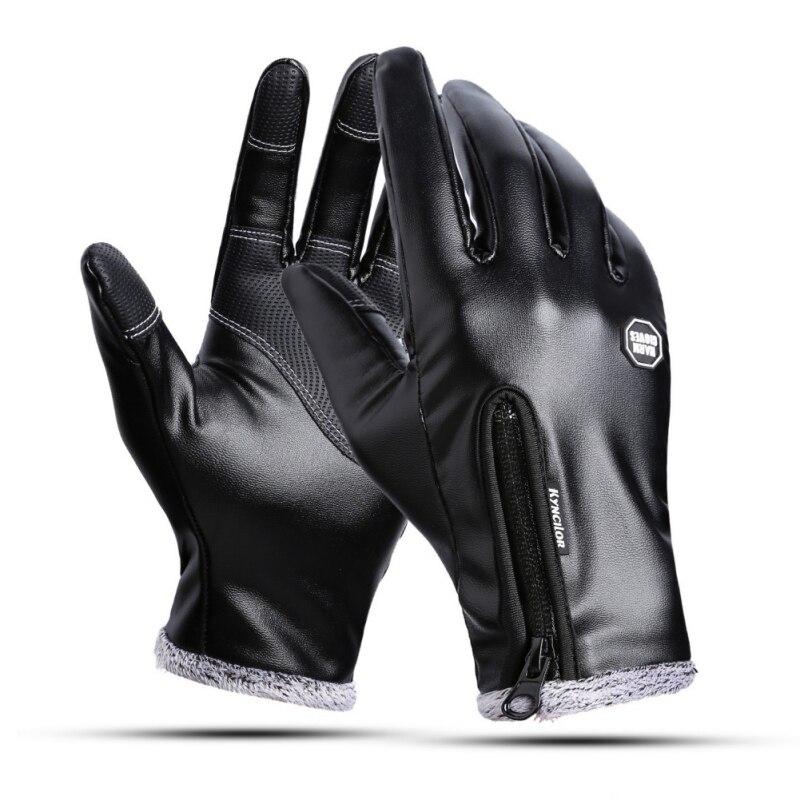 2020 Hot Winter Outdoor Men Ski Gloves Women Waterproof Touch Screen Windproof Warm Riding Plus Velvet Black Gloves