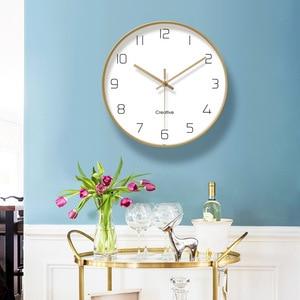Image 3 - Einfache Kreative Kunst Gold Mode Wanduhr Moderne Home Studie Stumm Uhr Mode Dekorative Quarz Uhr