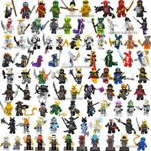 Ниндзя фильм Figuras фигурки Kai, jay, Cole, Nya Lloyd мастер Ву самурая X ниндзя комплект строительных блоков, Детские кубики Фигурки игрушки для детей подарок