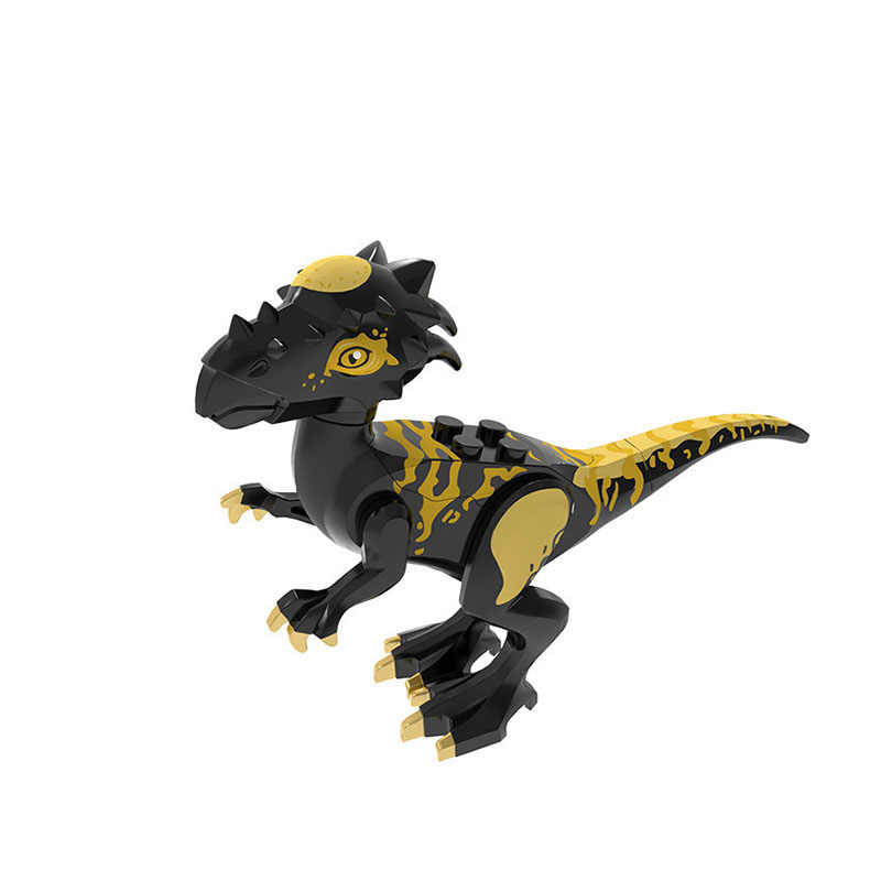 Single sale Animal World Dinosaur Park  Velociraptor lizard Stygimoloch Figures Building Blocks Toy For Children Gifts