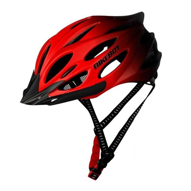 Unisex ciclismo capacete com luz bicicleta ultraleve capacete intergrally-moldado mountain road bicicleta mtb capacete seguro das mulheres dos homens 5