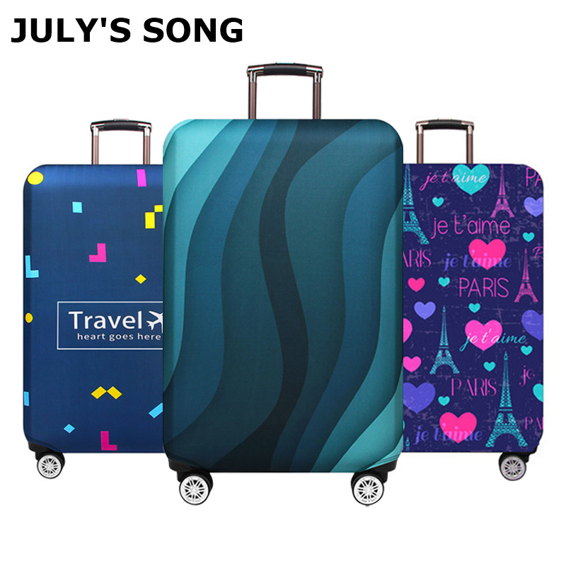 JULY'S SONG Suitcase Cover 18-32Inch Elastic Luggage Protective Covers Dust-proof Suitcase Protective Covers Travel Accessories