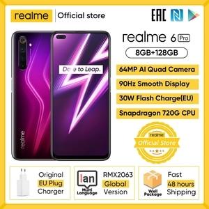Смартфон realme 6 Pro, 8 + 128 ГБ, Snapdragon 720G, 4200 мАч, 30 Вт, 64 мп