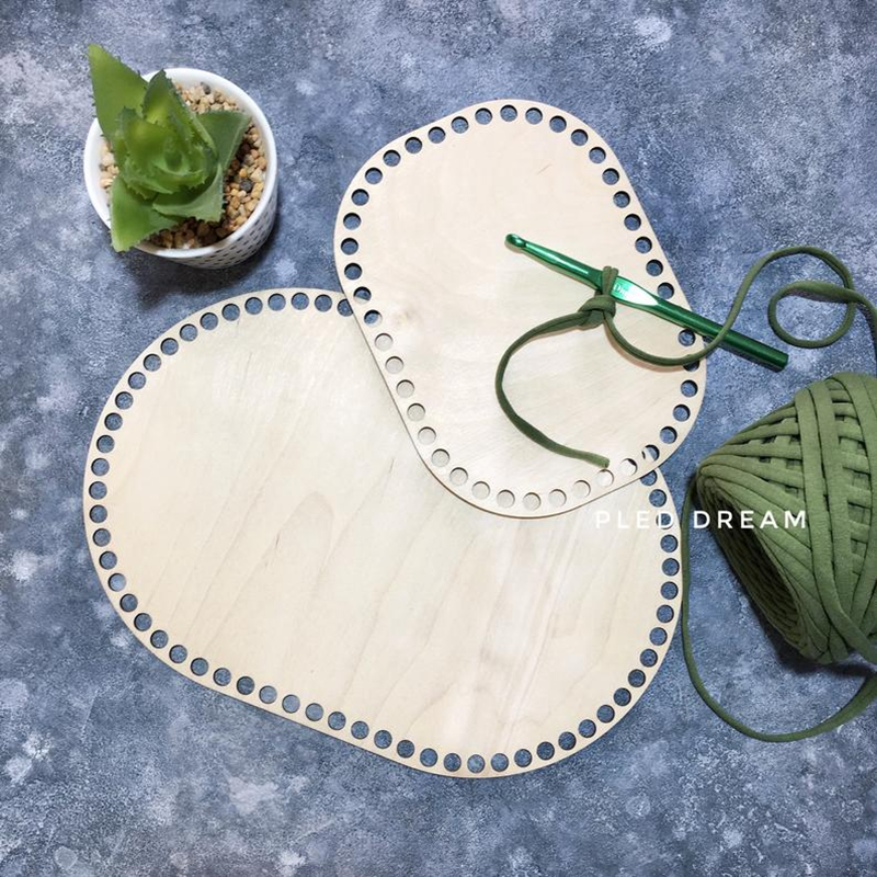 5pieces Rounded Rectangle Crochet Basket Bottoms Diy Handmade Storage Basket