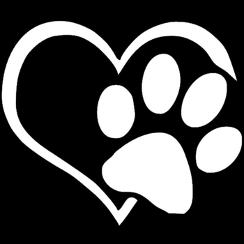Dog Cat Paw Print Car Sticker Lovely Heart Shaped for Camper Van Motorcycles Waterproof Vinyl Decal for Car Styling image