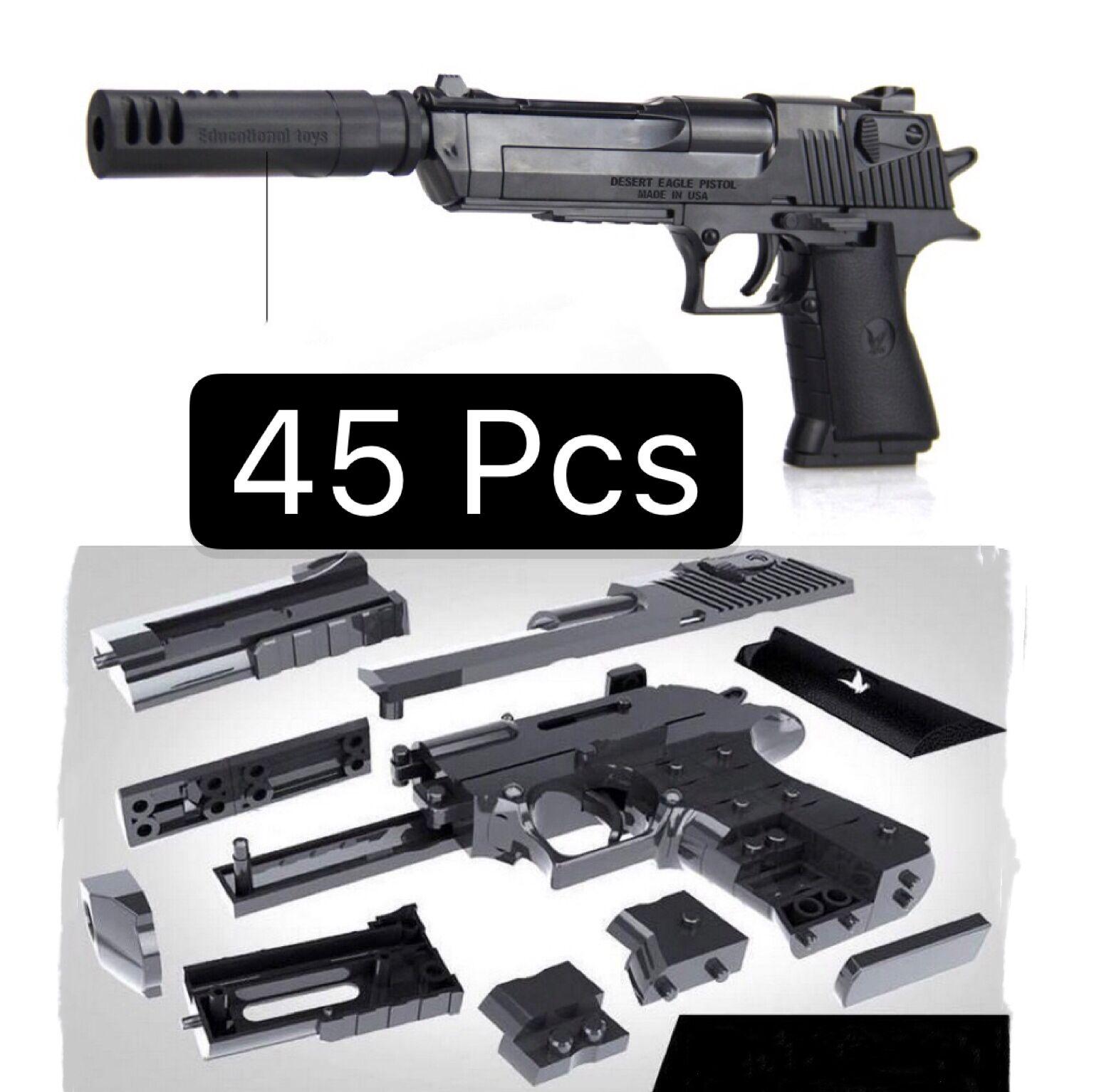 Boy Gun Model Kids DIY Rifle Assembled Building Block Toy Gun For Children Combination Pistol Military Arms Pistola Cool Gun Toy