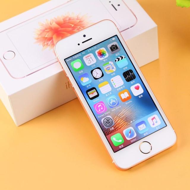 "Original Apple iPhone SE Used 99% New 4G LTE Mobile Phone 16GB 32GB 64GB 4.0"" 12MP Wifi Unlocked Cellphone 5"