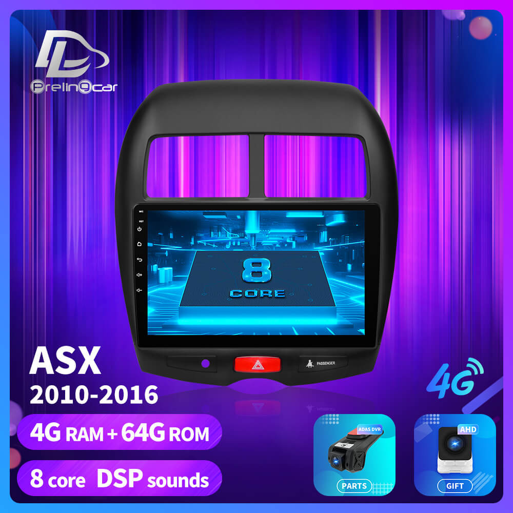 prelingcar For Mitsubishi ASX 2010 2018 years android 9.0 Car GPS Radio Multimedia no 2 din 4G  monitor Video Player Navigation|Car Multimedia Player| |  - title=