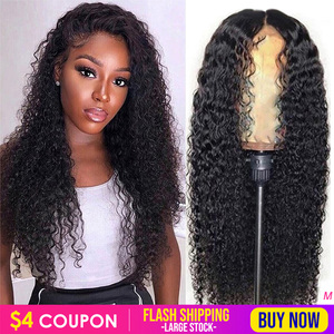Ably Pre plucked Curly Human Hair Wig Brazilian Remy 13x4 Lace Front Human Hair Wig 8-26 Inch 150% Glueless Curly Lace Front Wig(China)