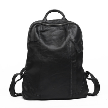 New Fashion Men Women 100% Genuine Leather Backpacks Real Natural Leather Student Luxury Female Male Lager Capacity Computer Bag
