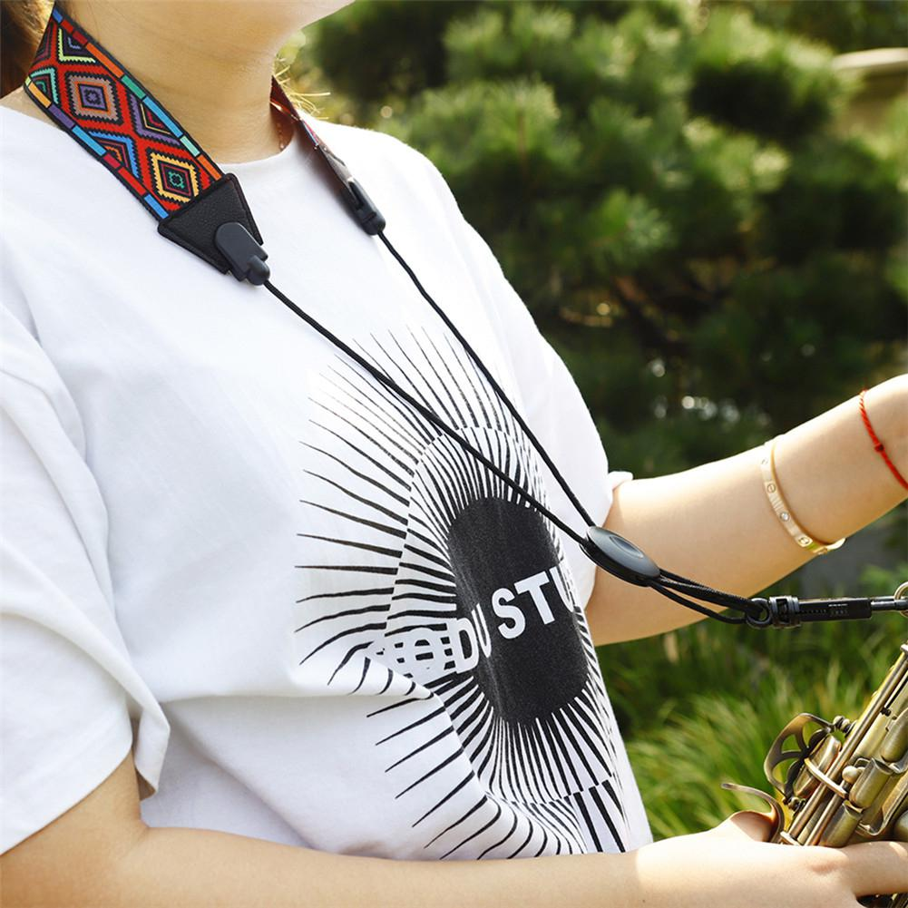 High Quality Red Diamond Pattern Shoulder Strap Neckband For Saxophone Accessories