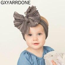 Baby Girls 5.5inch Bow Headband Turban Lace Bowknot Head Wra
