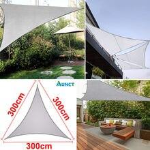 3x3x3m треугольные серые навесы Открытый водонепроницаемый тент