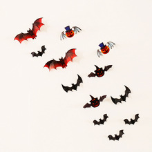 ZOTOONE 12pcs/set Bat PVC 3D Wall Sticker Festival Halloween Home Decor DIY Removable Vinyl Room Background G