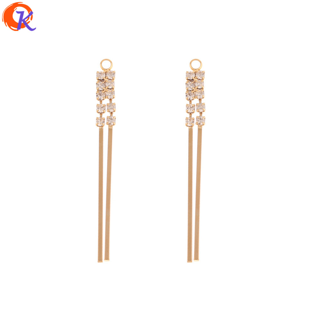 Cordial Design 30Pcs 4*45MM Jewelry Accessories/Hand Made/Connectors Charms/Genuine Gold Plating/DIY Making/Earring Findings